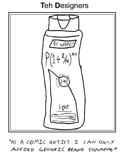 P(1+r/n)^(nt) brand shampoo!