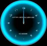 Neon Clocks screen saver